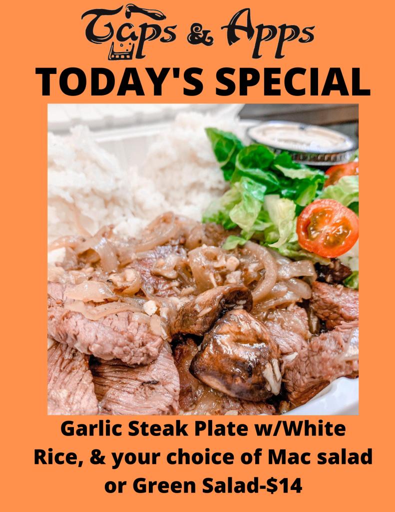 Garlic Steak Plate $14