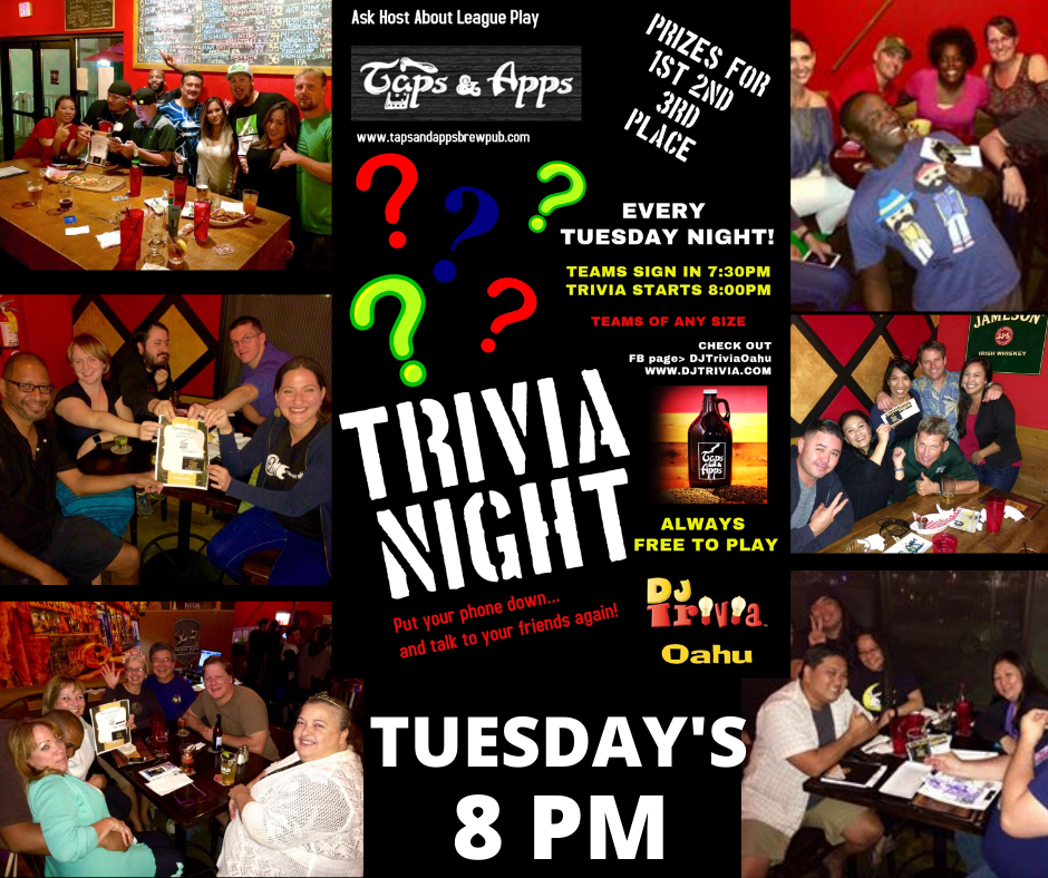 DJ Trivia Tuesdays! (New Time 8pm)